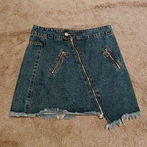 Nasty gal Denim Zipper Skirt
